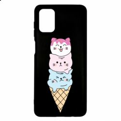 Чехол для Samsung M51 Ice cream kittens