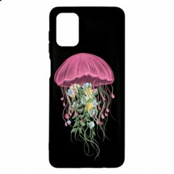 Чехол для Samsung M51 Jellyfish and flowers