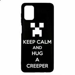 Чехол для Samsung M51 KEEP CALM and HUG A CREEPER