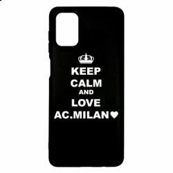 Чохол для Samsung M51 Keep calm and love AC Milan