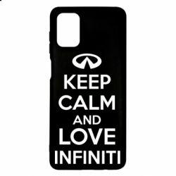 Чехол для Samsung M51 KEEP CALM and LOVE INFINITI