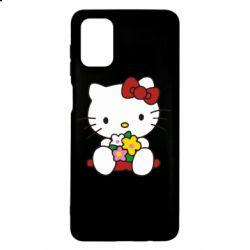 Чехол для Samsung M51 Kitty с букетиком