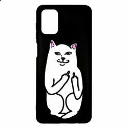 Чехол для Samsung M51 Кот с факом