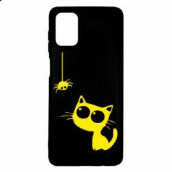 Чохол для Samsung M51 Котик і павук