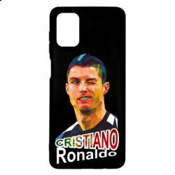 Чохол для Samsung M51 Крістіано Роналдо, полігональний портрет