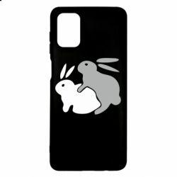 Чохол для Samsung M51 Кролики