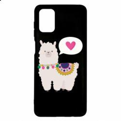 Чехол для Samsung M51 Lama with pink heart