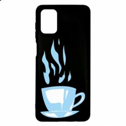 Чехол для Samsung M51 Light blue cup of coffee