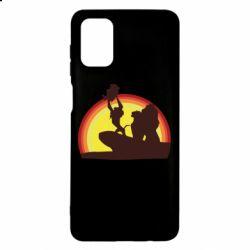 Чохол для Samsung M51 Lion king silhouette