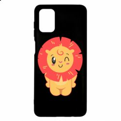 Чехол для Samsung M51 Lion with orange mane