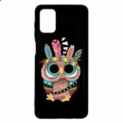 Чохол для Samsung M51 Little owl with feathers