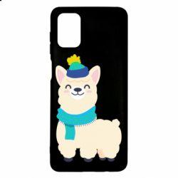 Чехол для Samsung M51 Llama in a blue hat