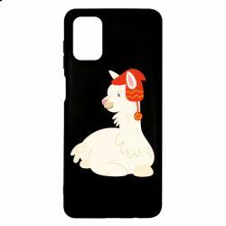 Чехол для Samsung M51 Llama in a red hat