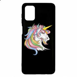 Чохол для Samsung M51 Кінь з кольоровою гривою