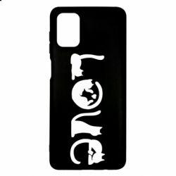Чехол для Samsung M51 Love consists of cats