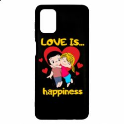 Чохол для Samsung M51 love is...happyness