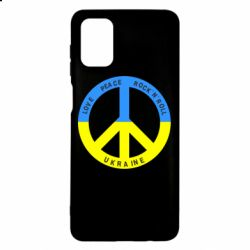 Чехол для Samsung M51 Love,peace, rock'n'roll, Ukraine