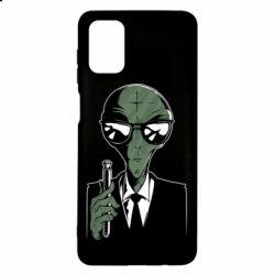 Чохол для Samsung M51 Люди в черном пародия