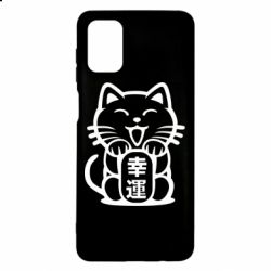 Чехол для Samsung M51 Maneki-neko, cat bringing luck