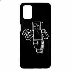 Чехол для Samsung M51 Minecraft and hero nickname