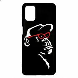 Чохол для Samsung M51 Monkey in red glasses