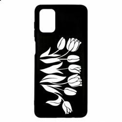 Чохол для Samsung M51 Monochrome tulips