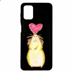 Чохол для Samsung M51 Морська свинка і сердечко