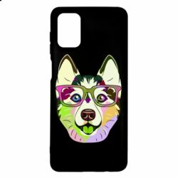Чохол для Samsung M51 Multi-colored dog with glasses