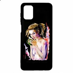 Чехол для Samsung M51 Naked girl with coffee