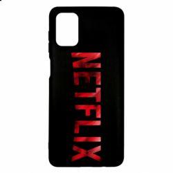 Чехол для Samsung M51 Netflix logo text