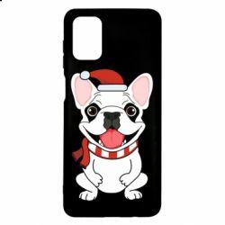 Чехол для Samsung M51 New Year's French Bulldog
