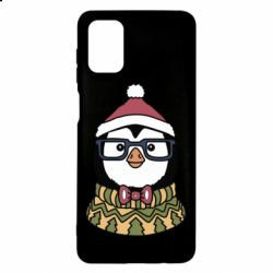 Чехол для Samsung M51 New Year's Penguin