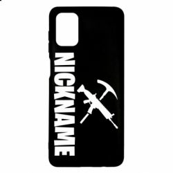 Чохол для Samsung M51 Nickname fortnite weapons