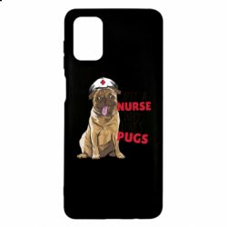 Чехол для Samsung M51 Nurse loves pugs
