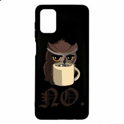 Чехол для Samsung M51 Owl and coffee