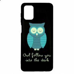 Чехол для Samsung M51 Owl follow you into the dark