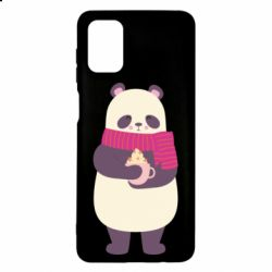 Чехол для Samsung M51 Panda and Cappuccino