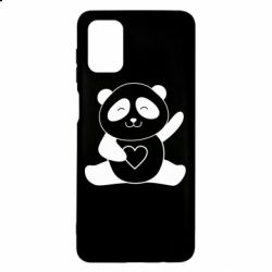 Чохол для Samsung M51 Panda and heart