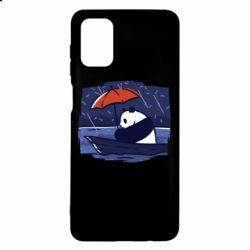 Чехол для Samsung M51 Panda and rain