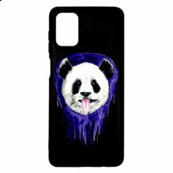 Чехол для Samsung M51 Panda on a watercolor stain
