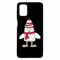 Чехол для Samsung M51 Penguin in the hat and scarf