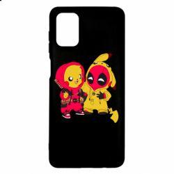 Чехол для Samsung M51 Pikachu and deadpool
