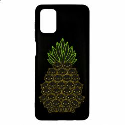 Чехол для Samsung M51 Pineapple cat