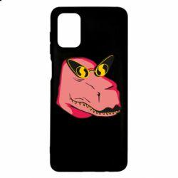 Чохол для Samsung M51 Pink dinosaur with glasses head