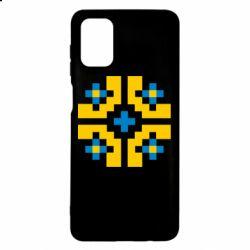 Чехол для Samsung M51 Pixel pattern blue and yellow