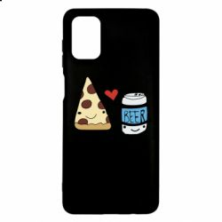 Чохол для Samsung M51 Pizza and beer