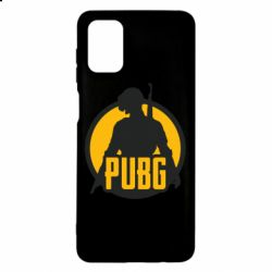 Чехол для Samsung M51 PUBG logo and game hero