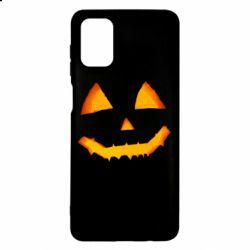 Чохол для Samsung M51 Pumpkin face features