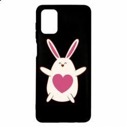 Чехол для Samsung M51 Rabbit with a pink heart