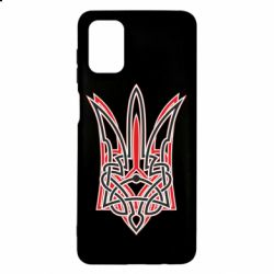 Чехол для Samsung M51 Red and black coat of arms of Ukraine